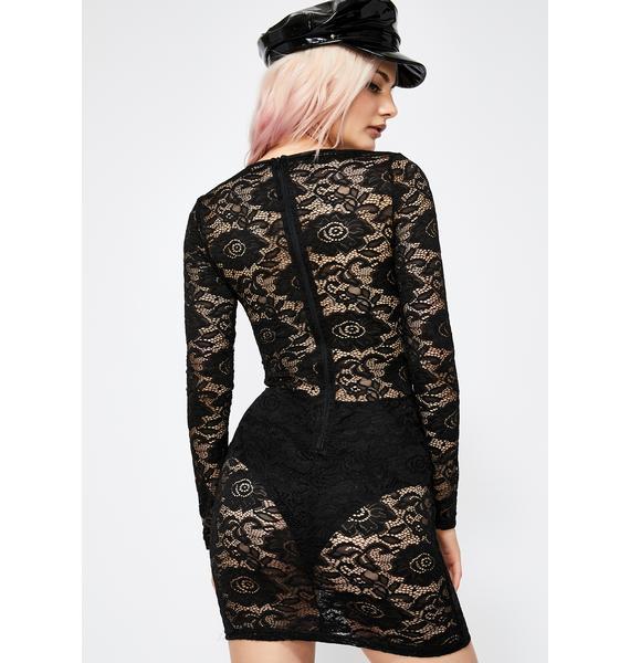 Wicked Go Go Glow Lace Dress