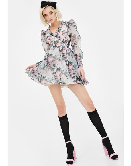 Garden Rose Puff Dress
