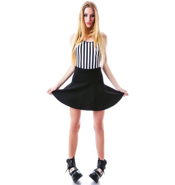 Mink Pink Love Game Flippy Skirt