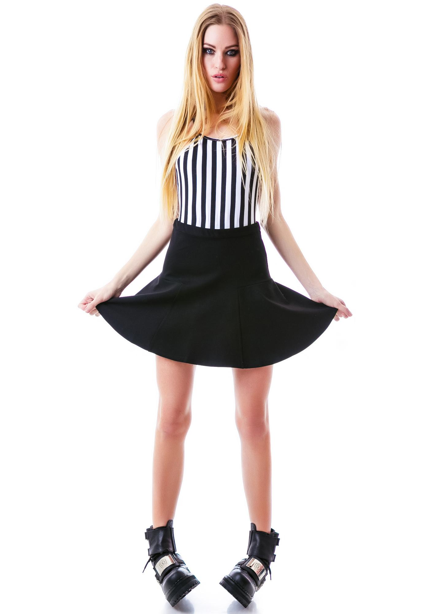 Mink Pink Love Game Flippy Skirt