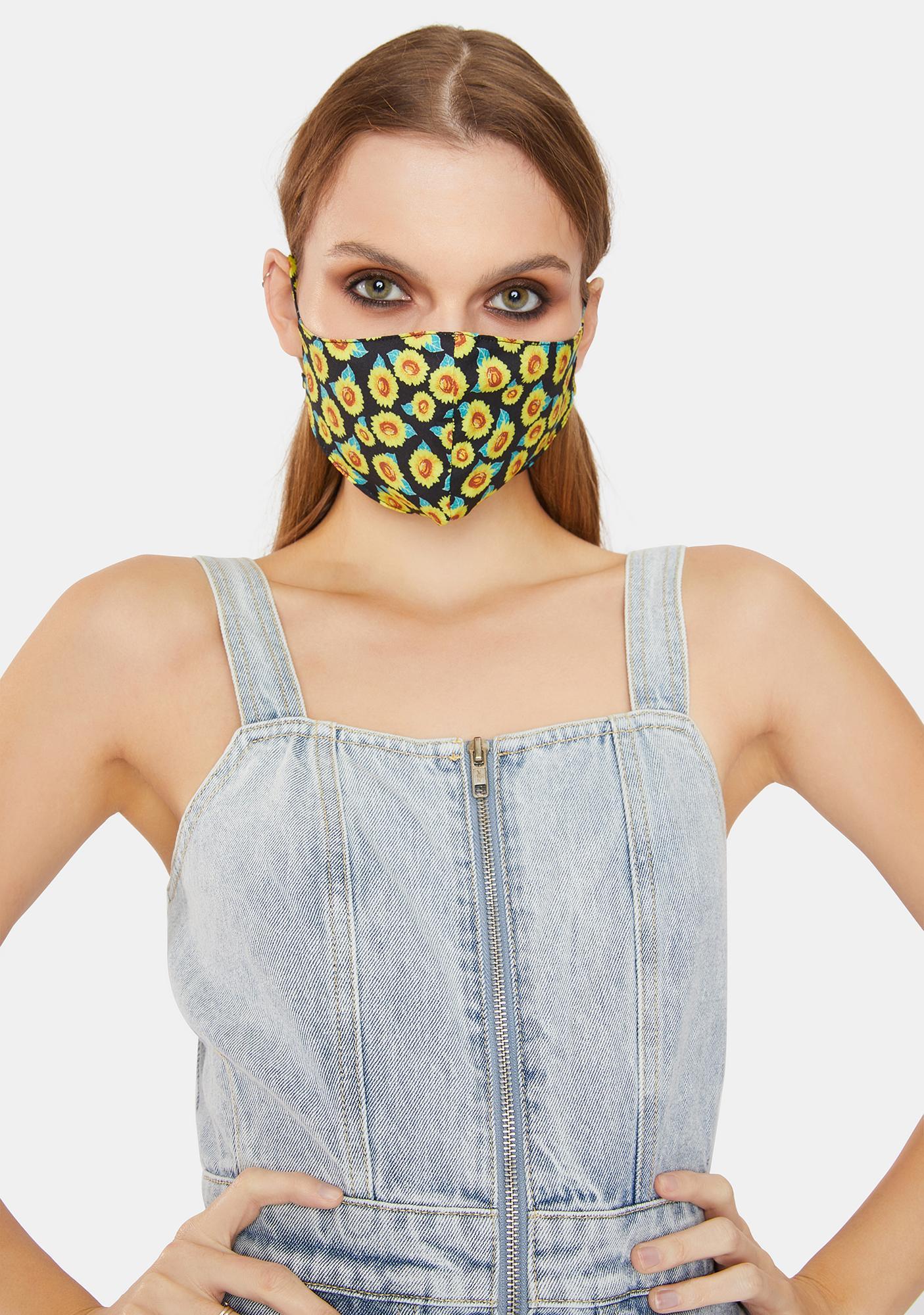 Sunflower Lover Face Mask