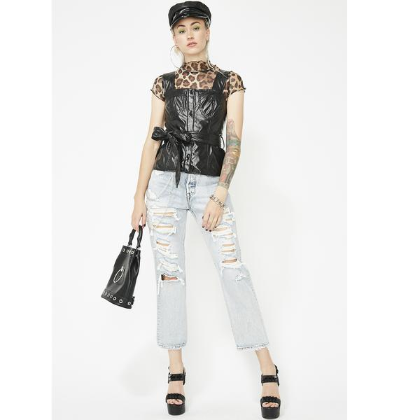 Wreck It Up Vegan Leather Bustier