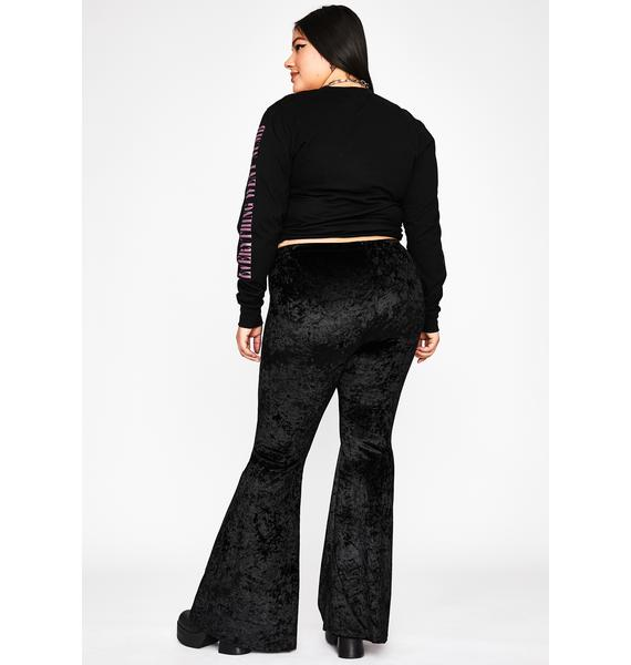 Noir Not So Simple Velvet Flares
