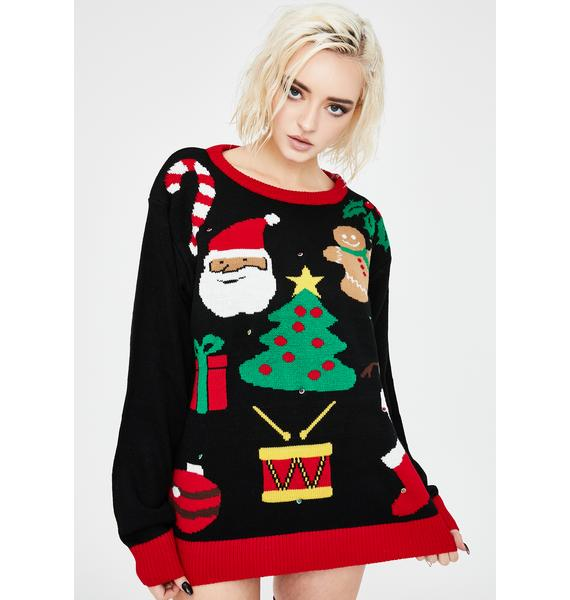 Everything Christmas Light Up Sweater