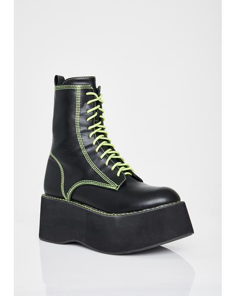 Slime Enigma Platform Boots