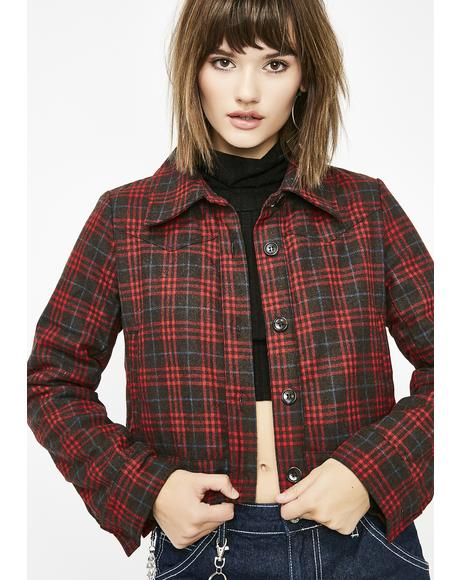 Dancin' With Wolves Plaid Jacket