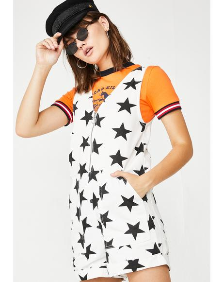 Stars In Your Eyes Graphic Romper