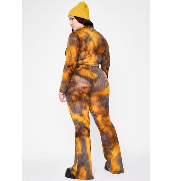 Divine Forbidden Mirage Tie Dye Pant Set
