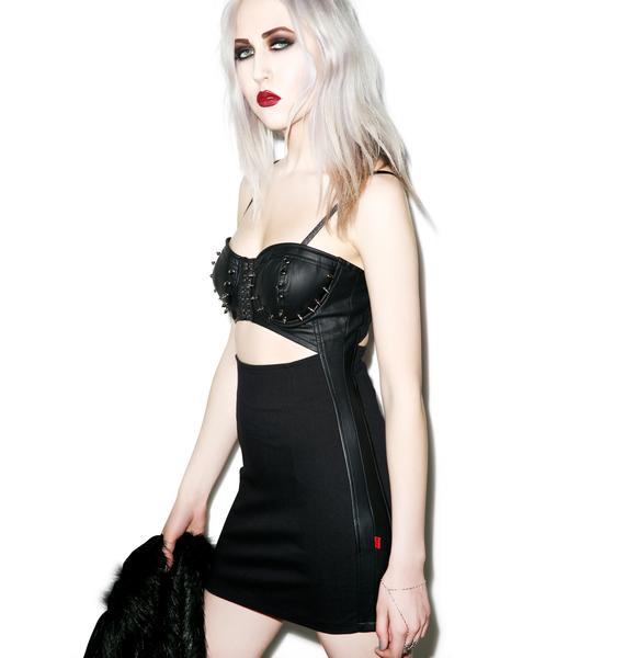 Tripp NYC Spiked Out Bustier Dress
