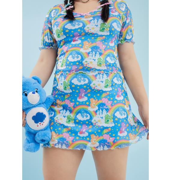 Dolls Kill x Care Bears Your Sharing Is Caring Mesh Skirt