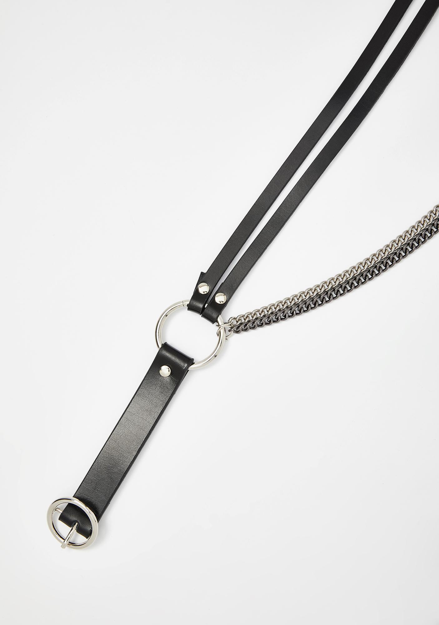 Double Down Faux Leather Belt