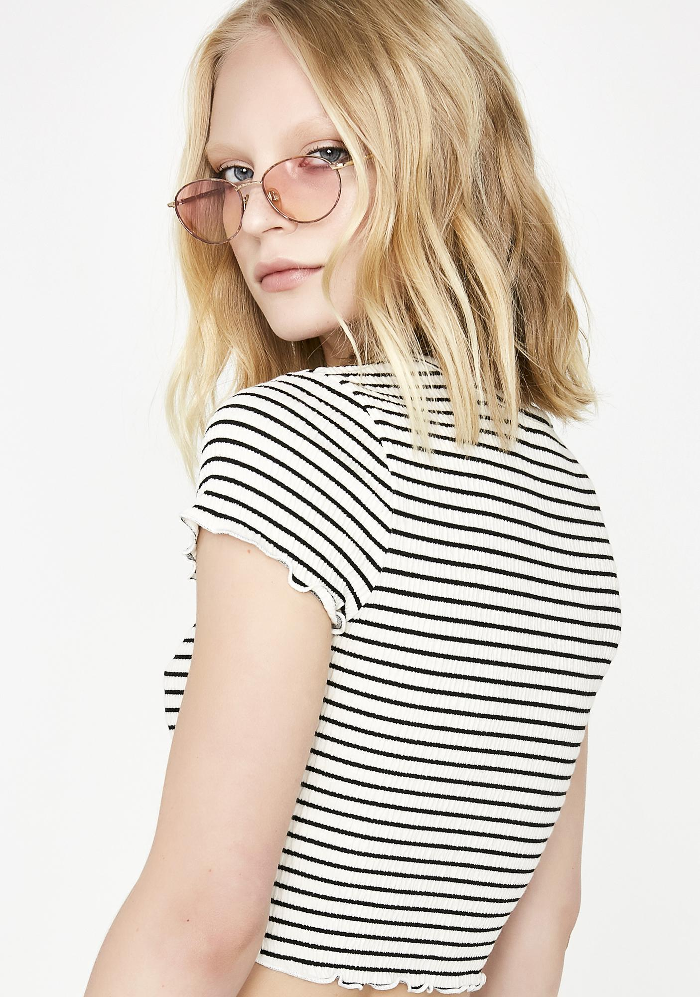 Dark Be Mellow Striped Top