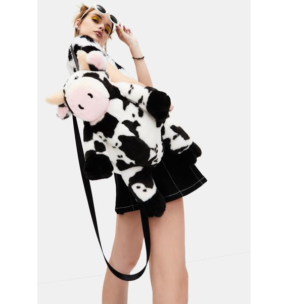 dELiA*s by Dolls Kill Cow Chic Fuzzy Backpack