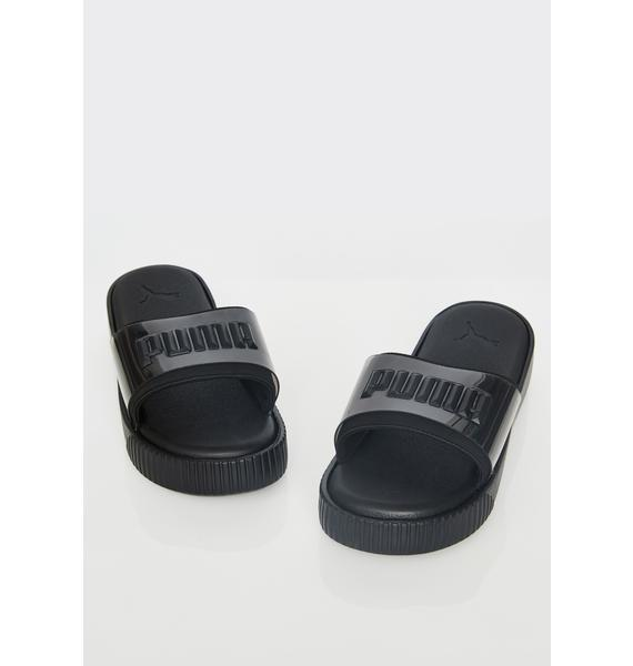 PUMA Dark Fashion Wns Platform Slides