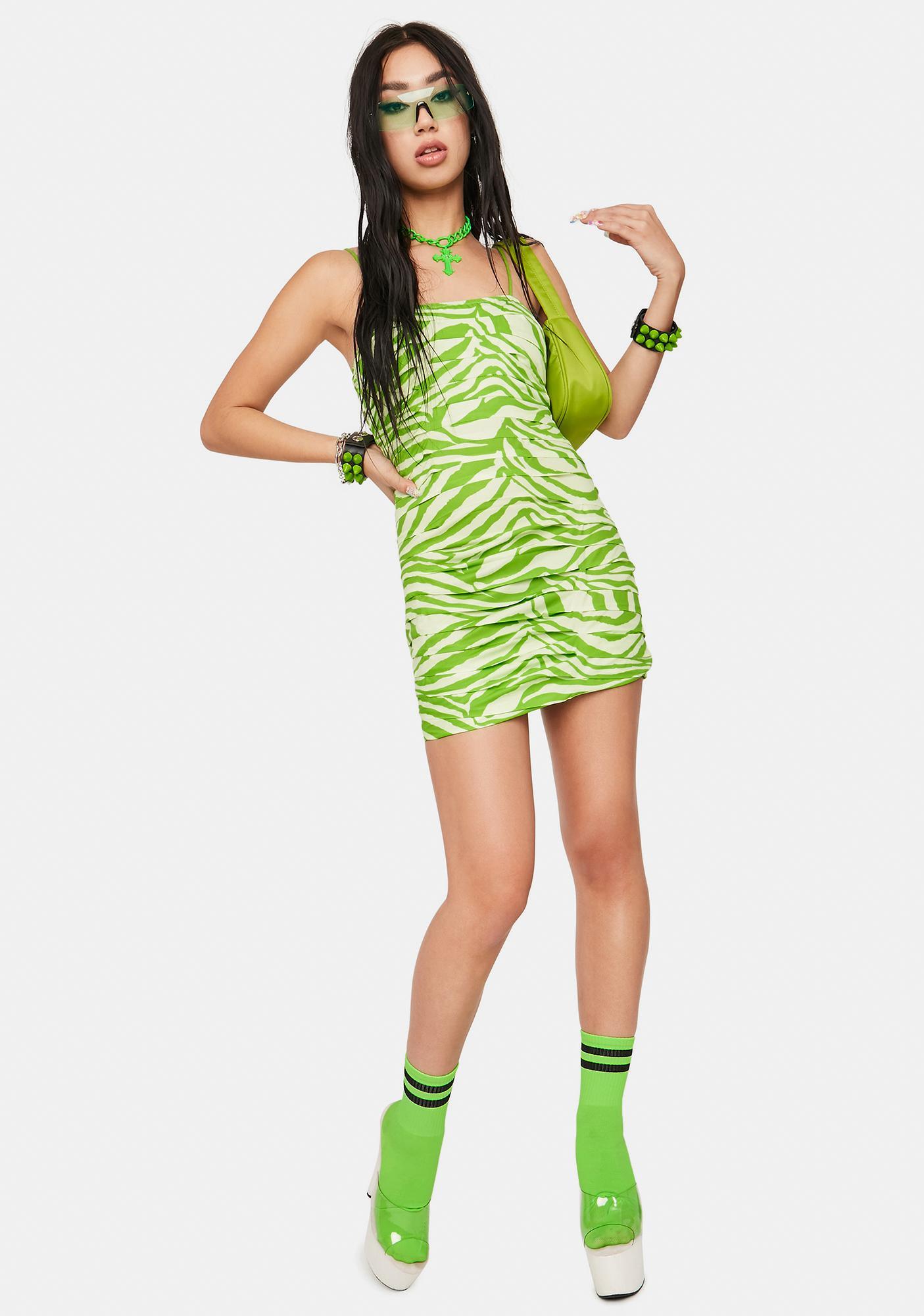 Atomic Wild Side Pleated Mini Dress
