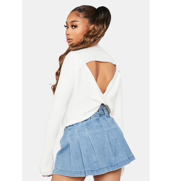 Cream Back To The Streets Open Back Reversible Top