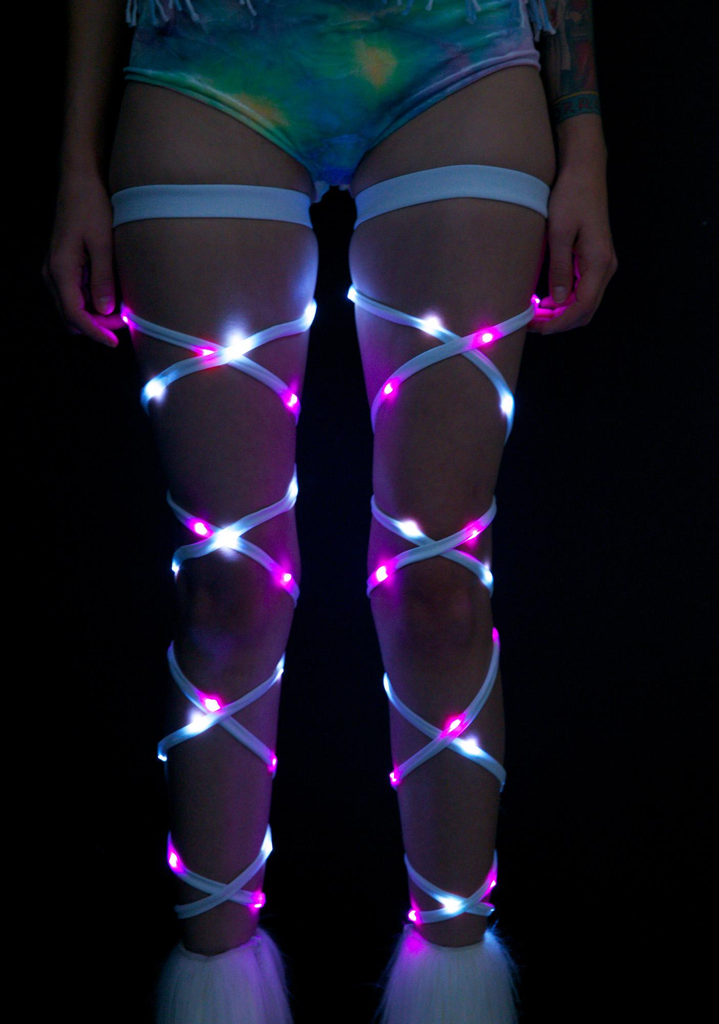 J Valentine Vivid Vixen Light-Up Leg Wraps