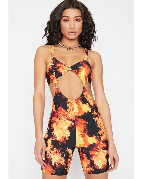Feel The Burn Cutout Romper