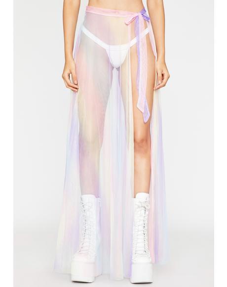 Candyland Vixen Sheer Maxi Skirt