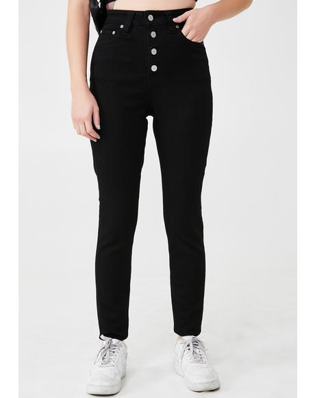 Black 5 Pocket High Rise Skinny Jeans