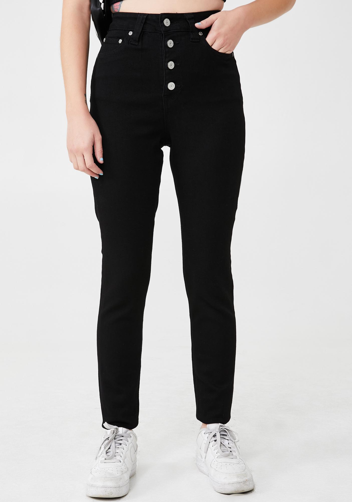 Dickies Girl Black 5 Pocket High Rise Skinny Jeans