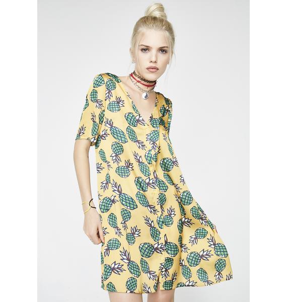 Glamorous Hey Big Head Pineapple Dress