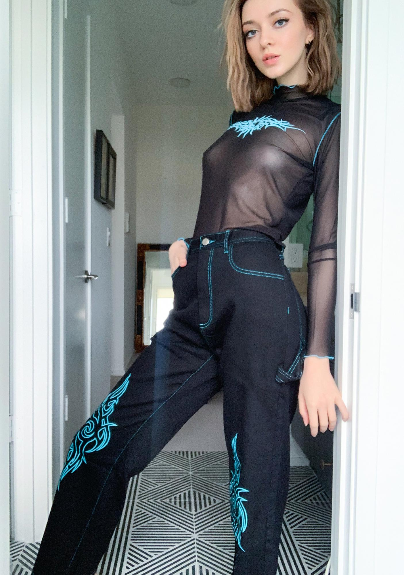 HOROSCOPEZ Talkin' Tough Wide Leg Pants