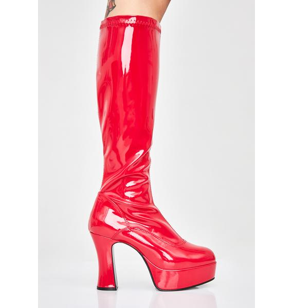 Funtasma Hell She's Scary Sexxxy Patent Boots