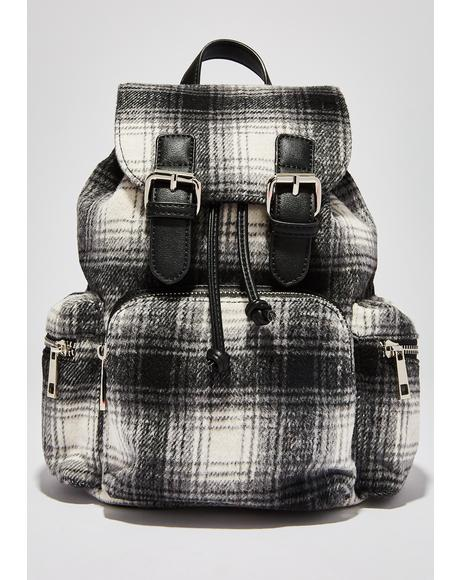 Plaid To Be Back Backpack