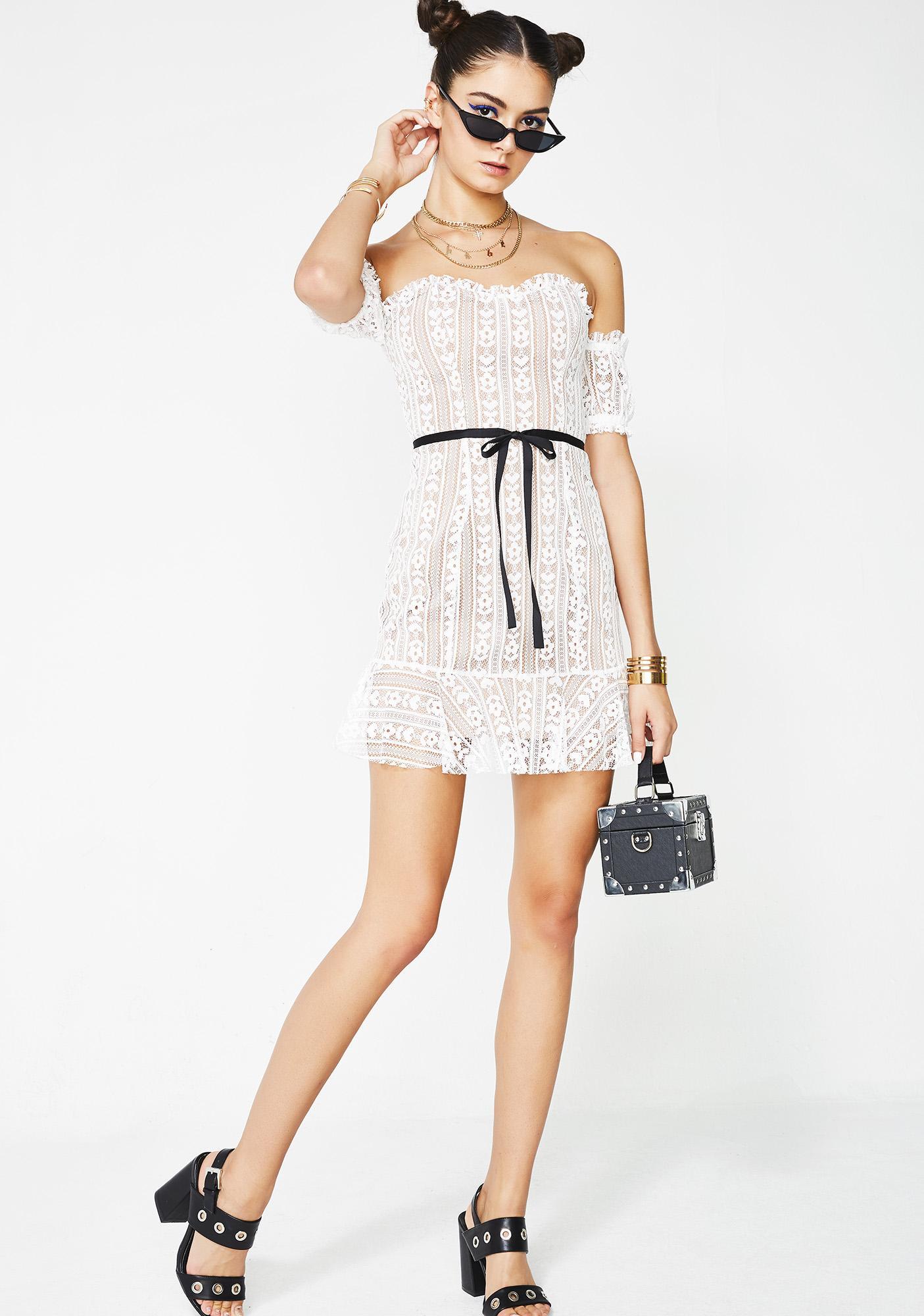 For Love & Lemons Dakota Lace Mini Dress