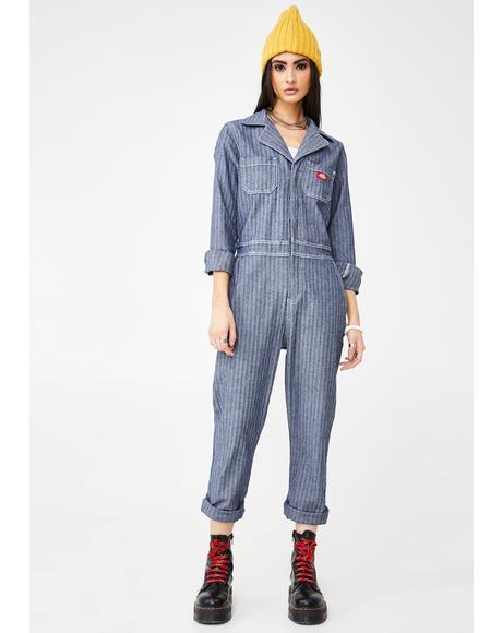Embroidered Straight Leg Jumpsuit