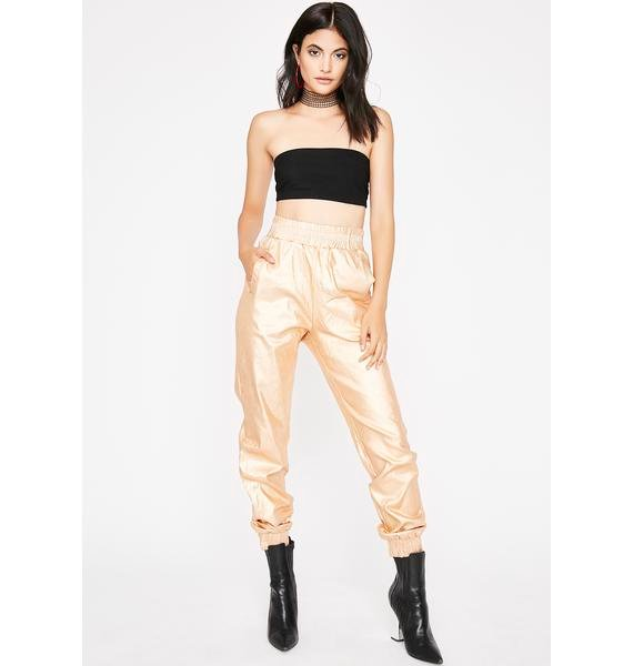 Can't Touch Diz Metallic Joggers