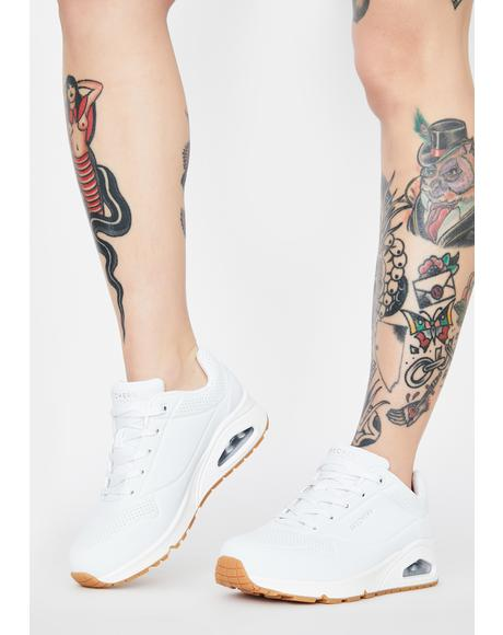 White Stand On Air Uno Sneakers