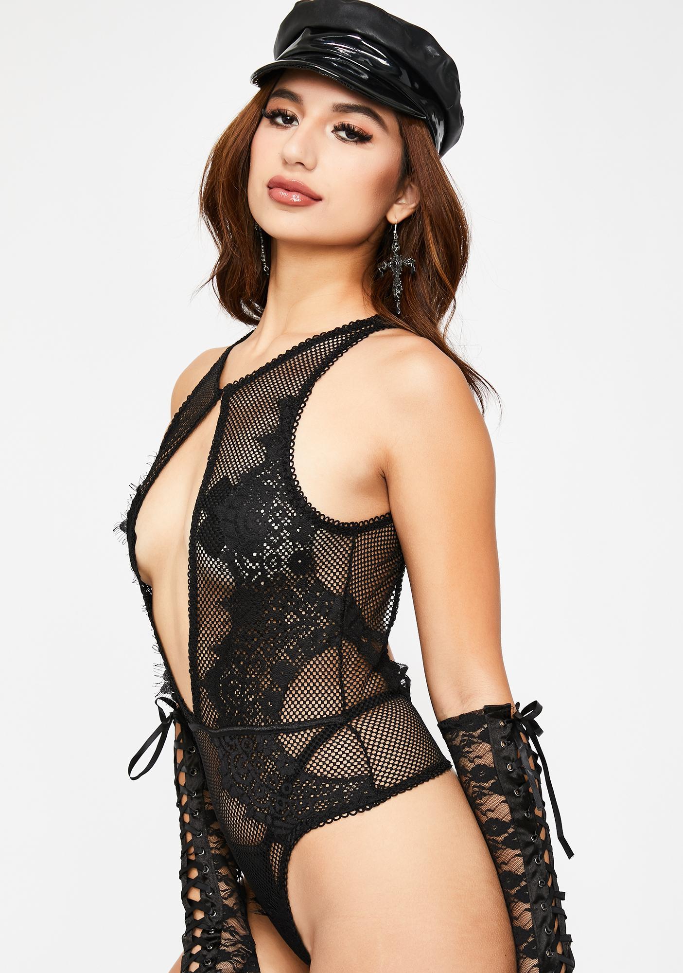 Noir Love Minxx Lace Bodysuit