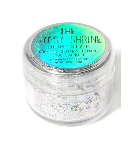 The Gypsy Shrine Chunky Silver Mix Face Glitter
