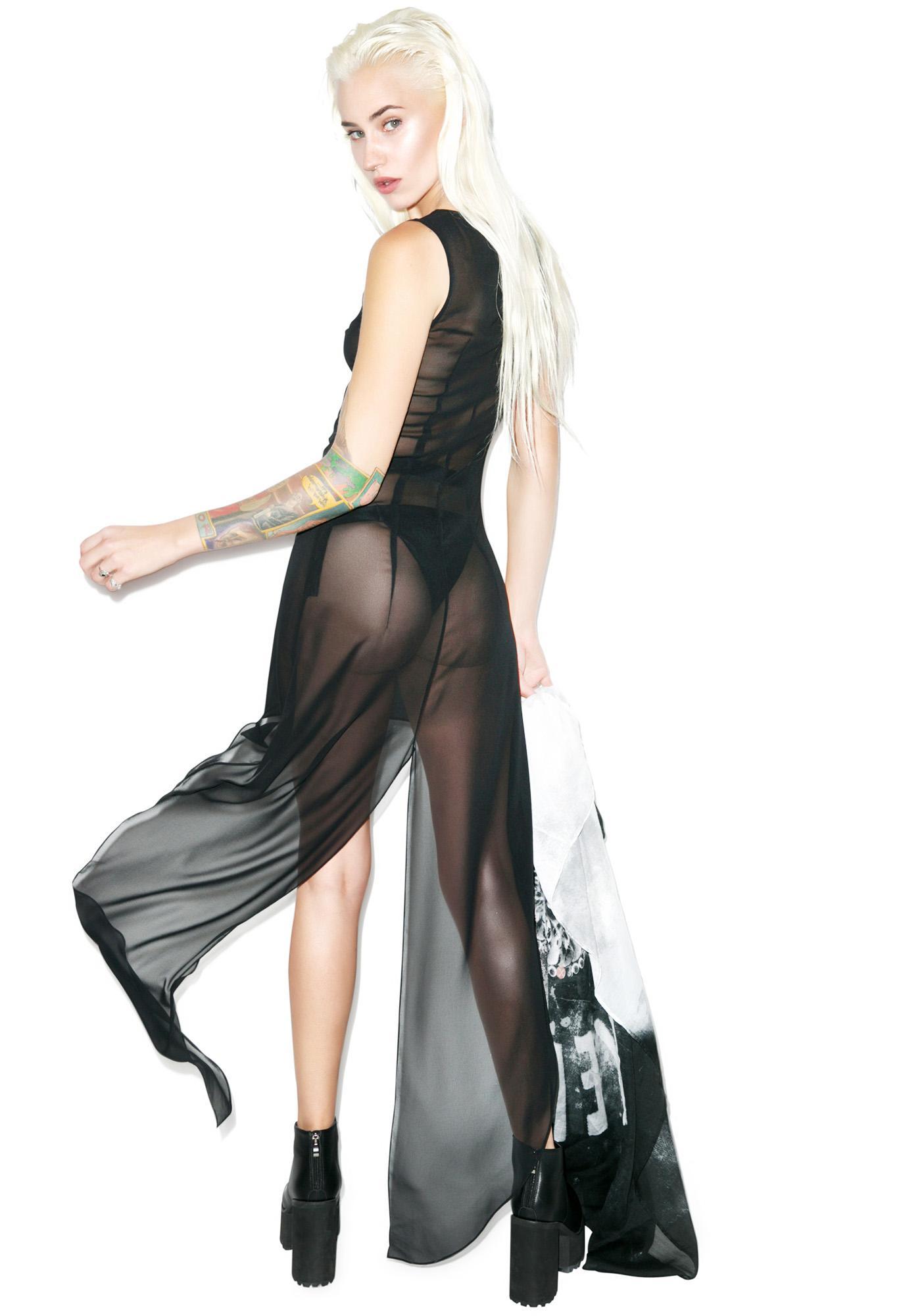Matter of Black Black Angel Dress