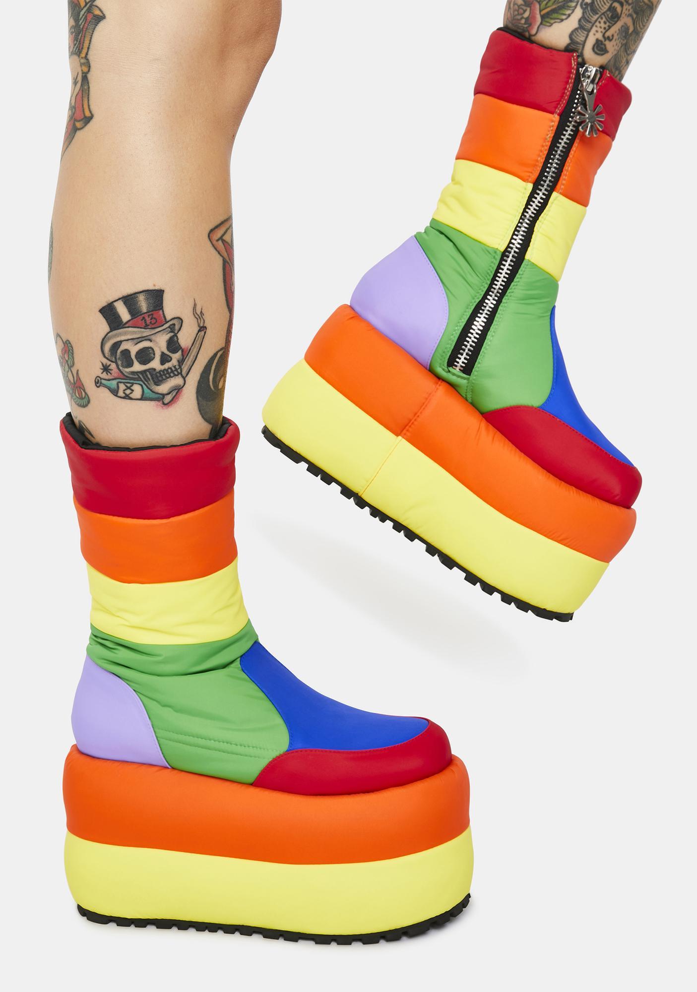 dELiA*s by Dolls Kill Sweet Retreat Platform Puffer Boots