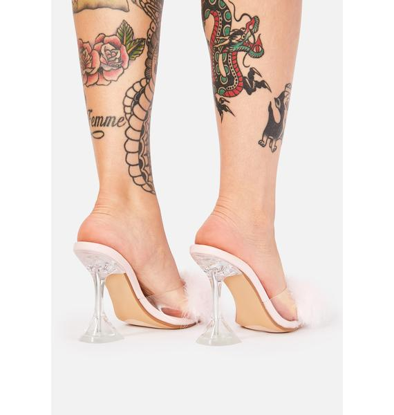 Champagne Life Marabou Heels