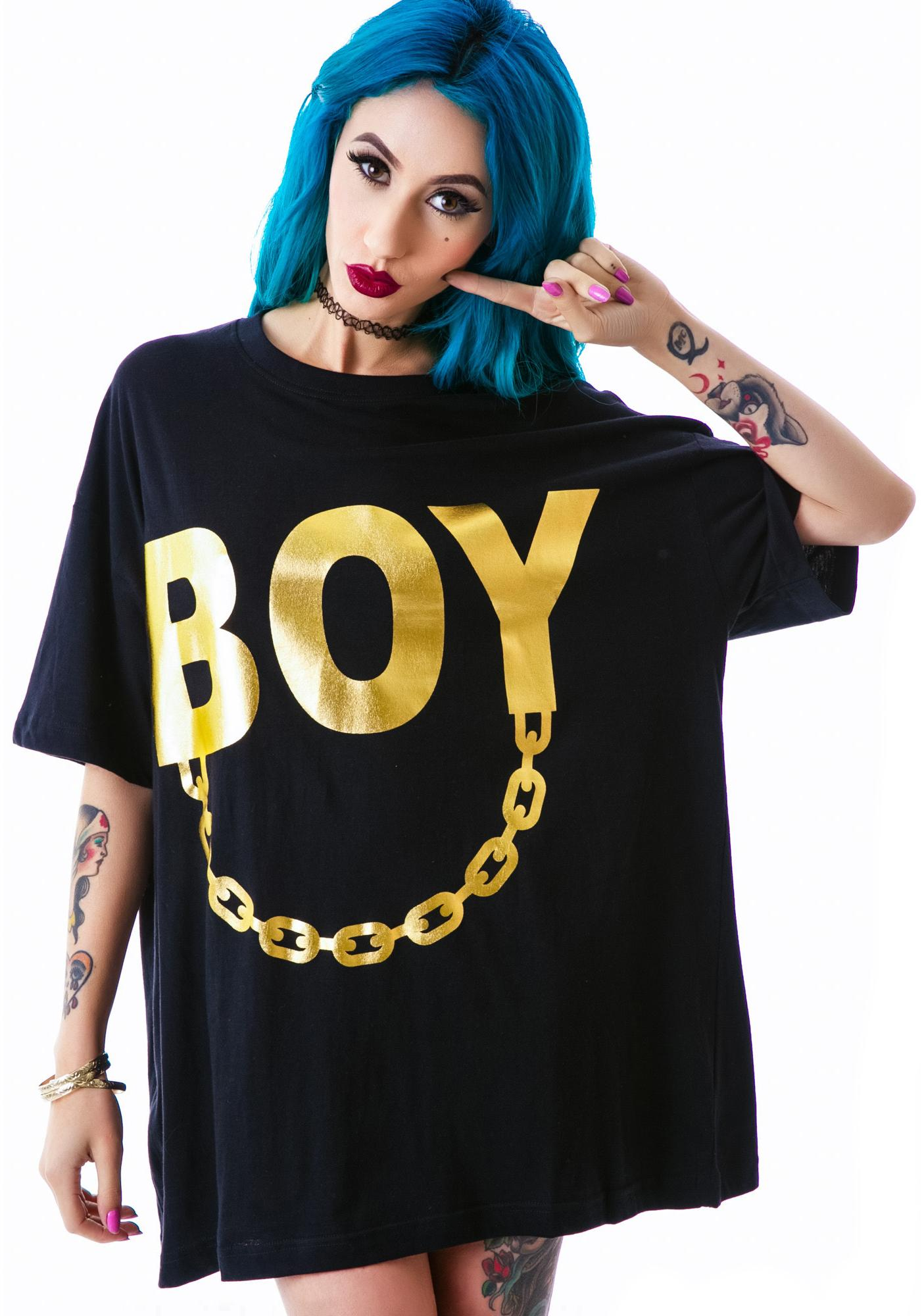 Long Clothing x BOY London Boy Chain Tee