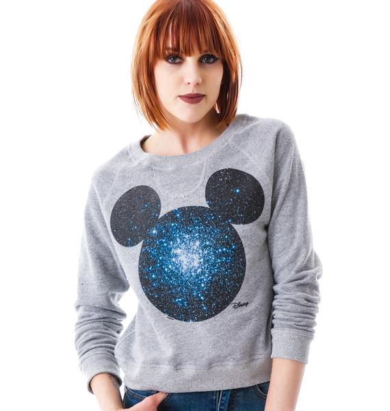 Junk Food Clothing Cosmic Mickey Pullover Sweatshirt