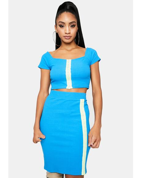 Classy Moves Ribbed Skirt