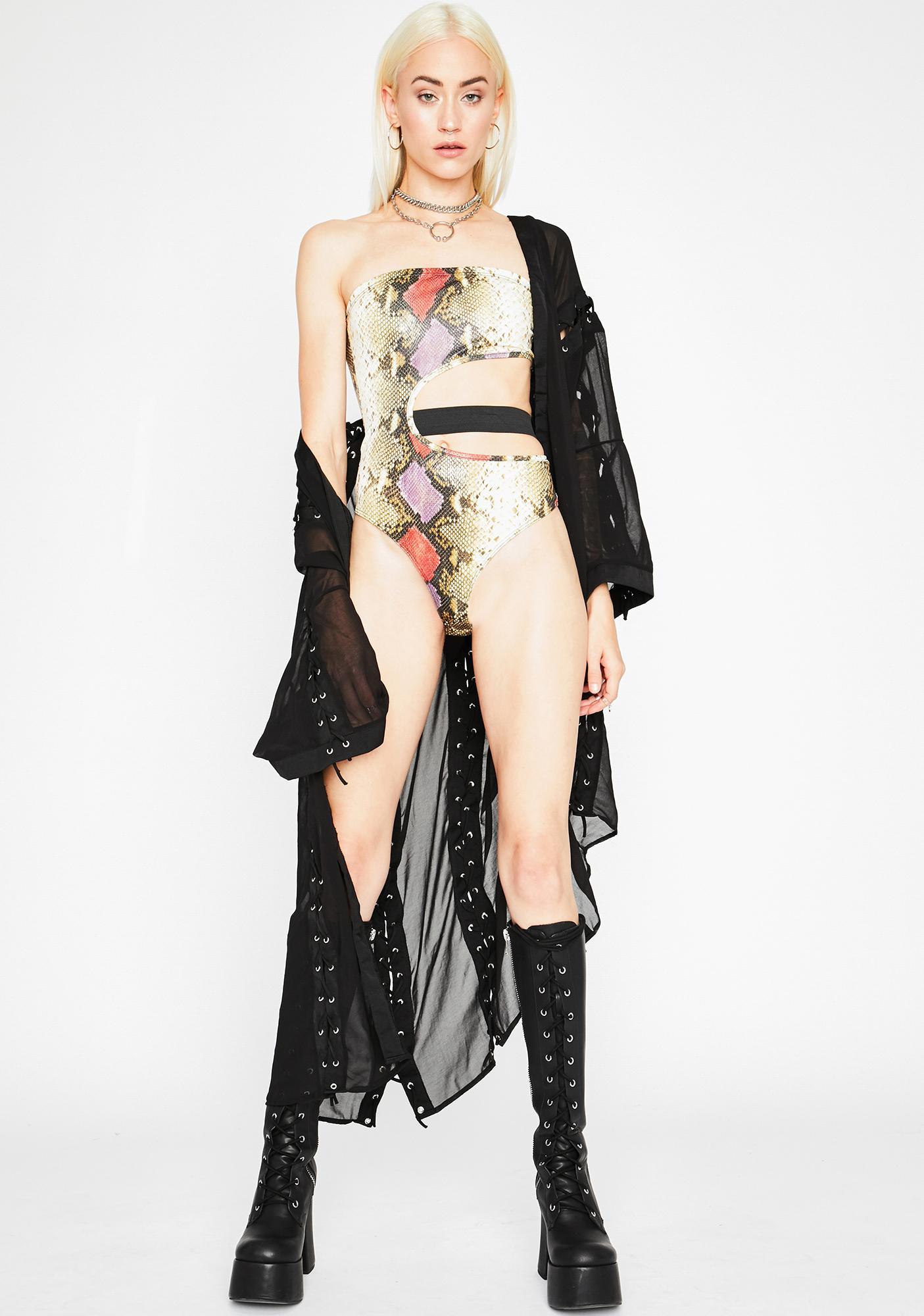 Wild Revenge Snakeskin Bodysuit