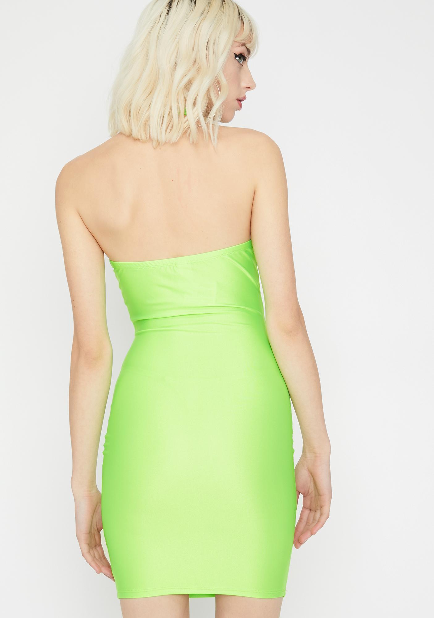 Lime Boy Please Bodycon Dress