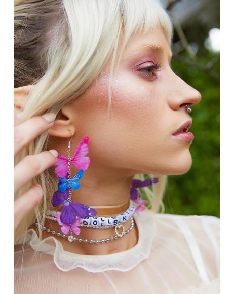 Up And Away Butterfly Drop Earrings