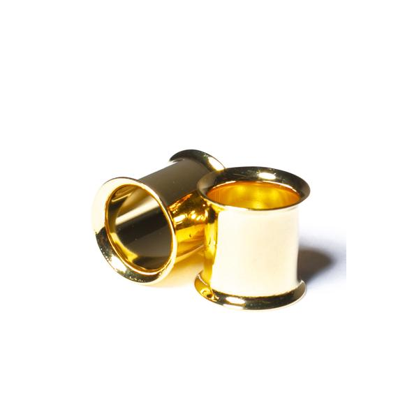 Glam Gold Gauged Plugs