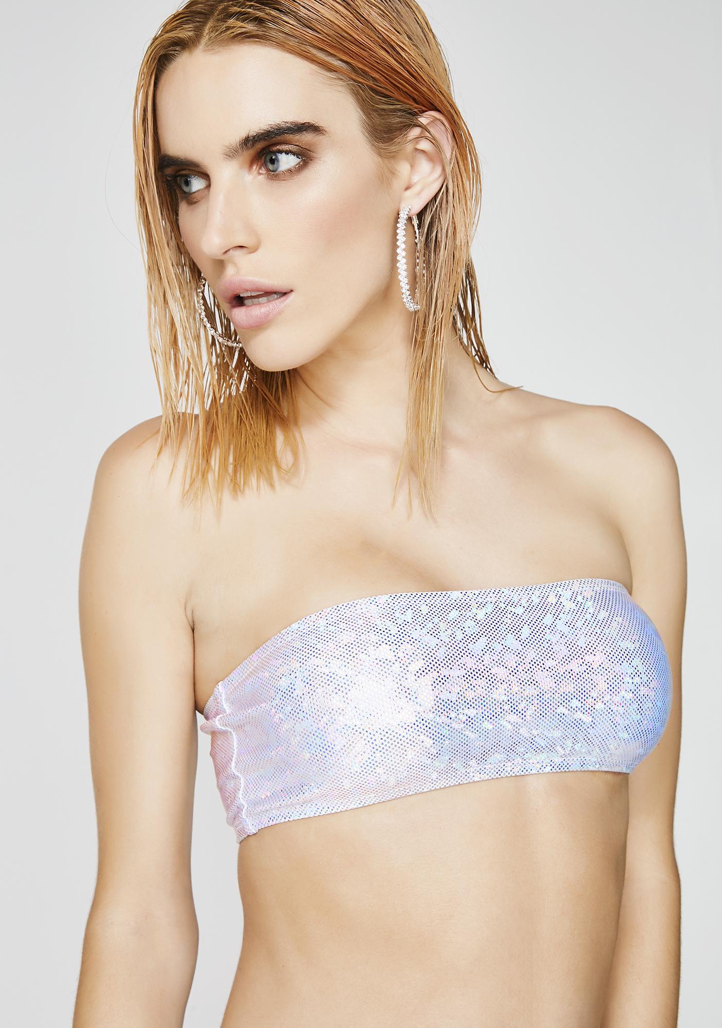 284e88dd8ea Dippin  Daisy s Milky Way Bandeau Bikini Top