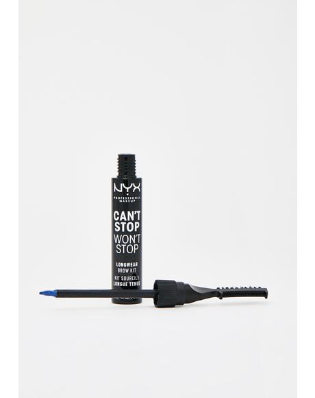 Blue Can't Stop Won't Stop Longwear Brow Kit