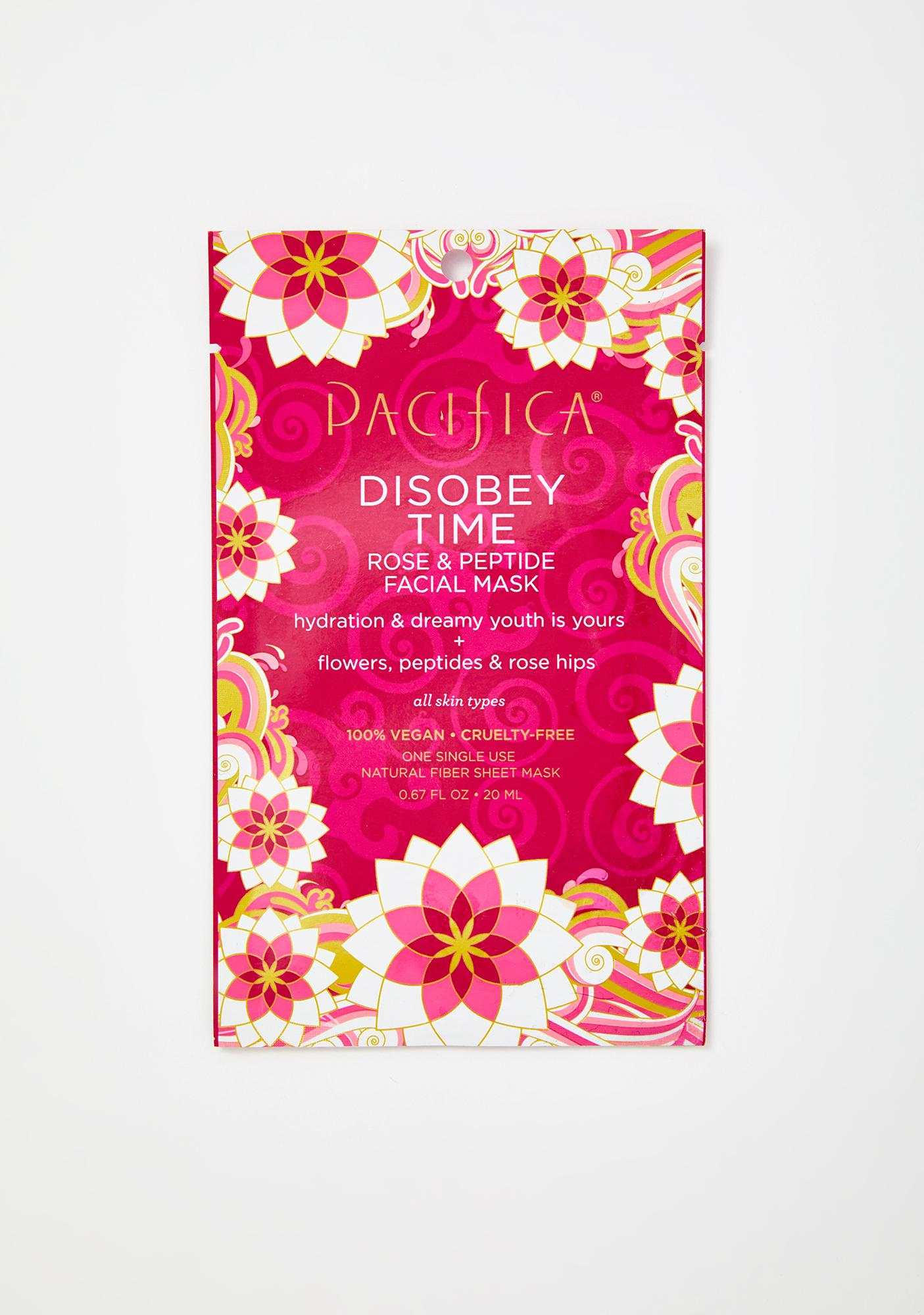 Pacifica Disobey Time Rose N Peptide Face Mask