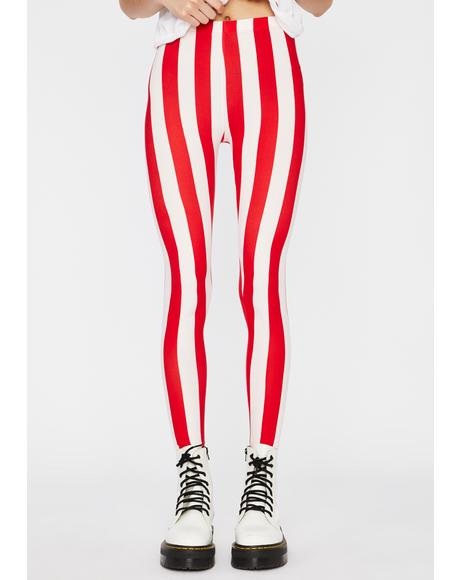 Sweet N' Twisted Candy Cane Leggings