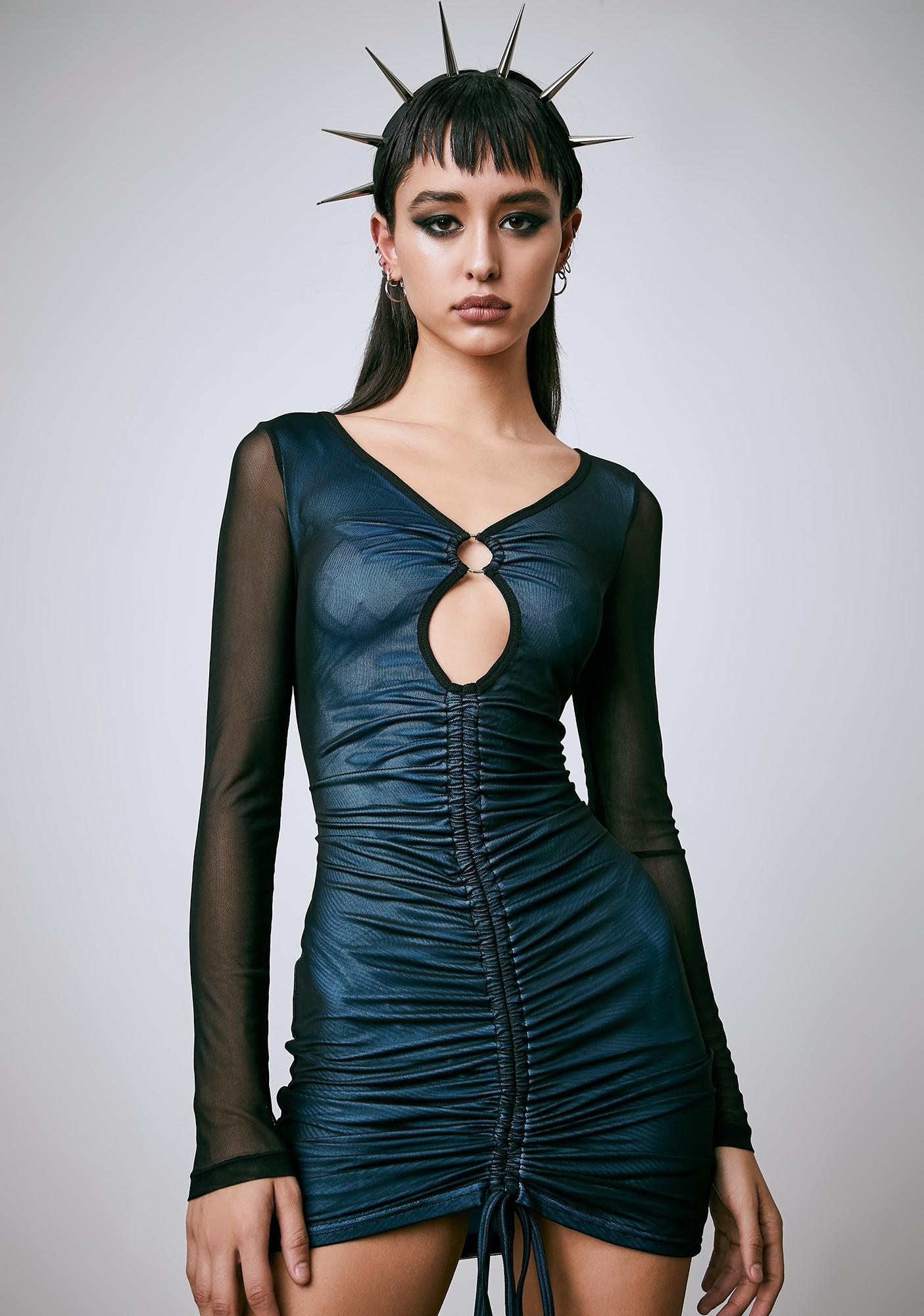 Current Mood Into The Dusk Ruched Dress
